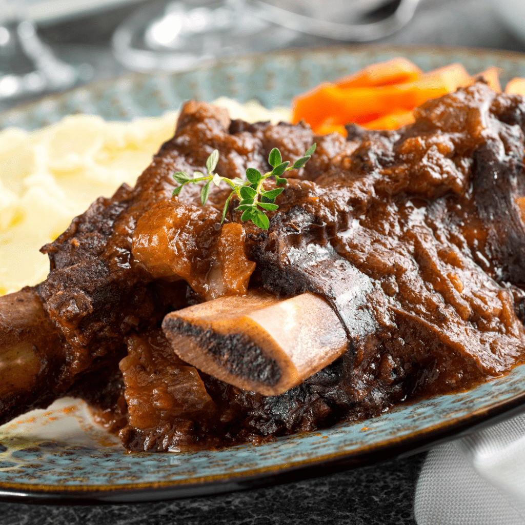 Stewed short ribs